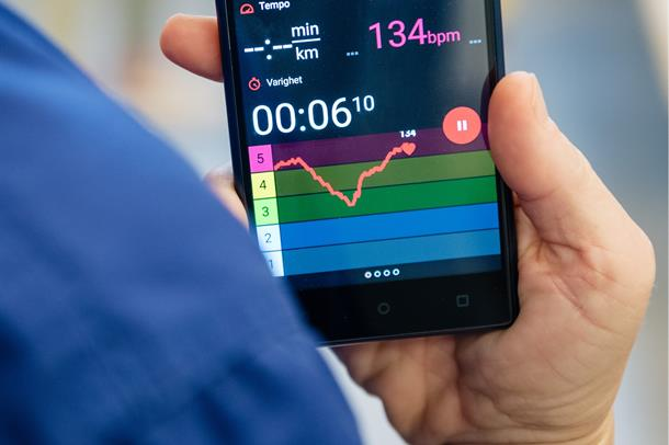 Monitorering av hjertefrekvens sone Oslo FIRST studien