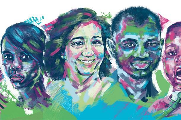 logo sjeldendag med bilde av mennesker med sjeldne diagnoser