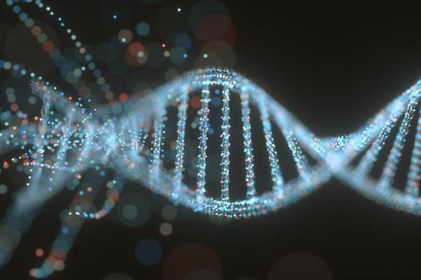 Illustrasjonsbilde DNA spiral