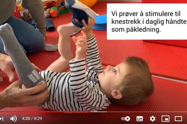 Bilde av trening med liten gutt med OI